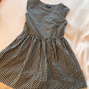 Madewell tie-back mini dress in gingham